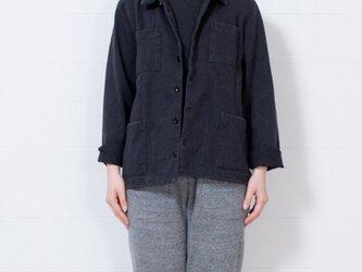 【再入荷】O-0002 吊り天竺シャツジャケット チャコール  サイズ2の画像