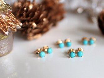 turquoise*1粒pierce***の画像