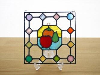 ステンドグラス ミニパネル フルーツ ドット 15cmの画像