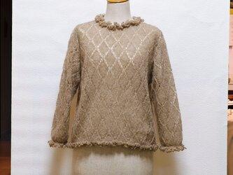 どんぐり染め手編みセーターNO.107の画像