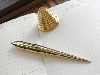 ペンツールシリーズ ボールペンタイプ 真鍮無垢/無地(スタンド付き)の画像