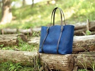 藍染革[migaki] トートバッグの画像