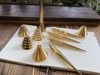 ペンツールシリーズ ボールペンタイプ 真鍮無垢/Standard(スタンド付き)の画像