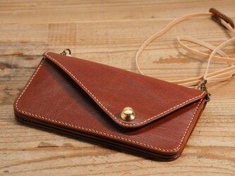 ドイツホックの長財布(ブラウン)の画像
