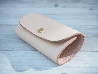 本革キーケース使うほどに味が深まる手作りヌメ革 ナチュラル【受注生産】の画像