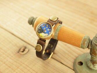 【受注生産】まるい時計 pattern1 R007の画像