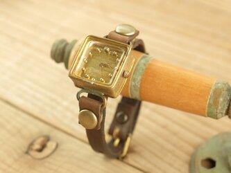 【受注生産】しかくい時計 w-shima gold S005の画像