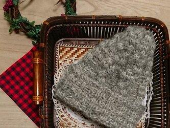 ナチュラル素材のニット帽 ウール・アルパカの画像