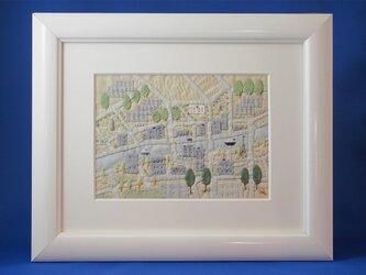 街の地図 [ニードルワーク額入]の画像