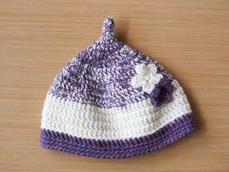 お花のとんがり帽 for girl ●受注制作●の画像
