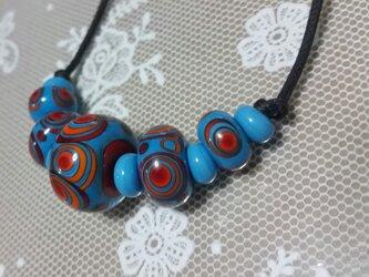 ネックレス(とんぼ玉)~ターコイズブルーの画像