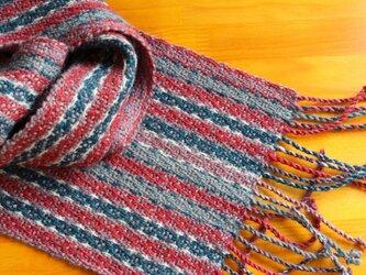 手織のマフラー 蘇芳(すおう)の画像