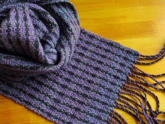 手織のマフラー 錆桔梗(さびききょう)の画像
