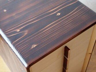 椴松(とどまつ)の家具 手箪笥四段小抽斗の画像
