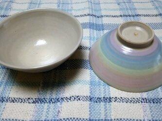 パステルレインボー飯椀の画像