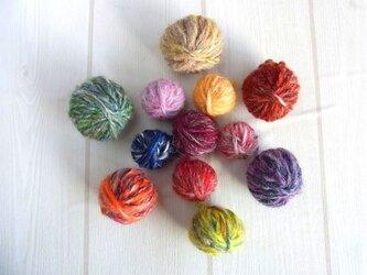 手紡ぎ糸玉セット③ 50gの画像