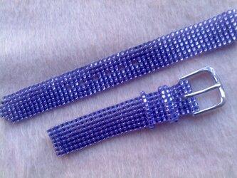 ビーズ織の時計ベルト(13mm) うっとり・・・紫の画像