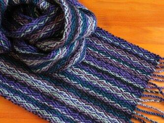 手織のマフラー 滅紫(けしむらさき)の画像