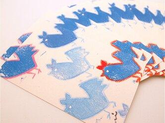 「青いニワトリ」ポストカード10枚セットの画像