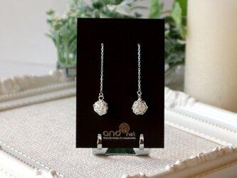 [silver999] 純銀クロッシェボールチェーンピアスの画像