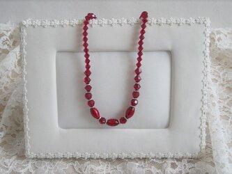 ヴェネチアンビーズのネックレス♪~の画像