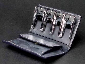 コインキャッチャーのコインケース --- 希少国産牛革ロロマ [ブルー]の画像