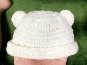 クマ耳帽子★子供用の画像