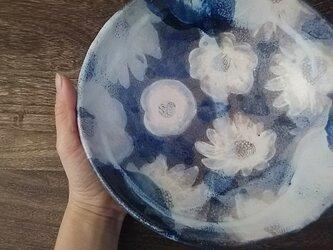 山茶花の大鉢    22cmの画像