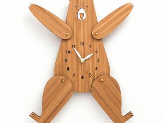 BEAR(くま)の掛け時計の画像