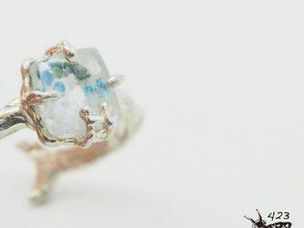 水玉模様 ギラライトインクォーツのリング P151の画像