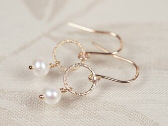 14KGF Moon Pearl Earringsの画像