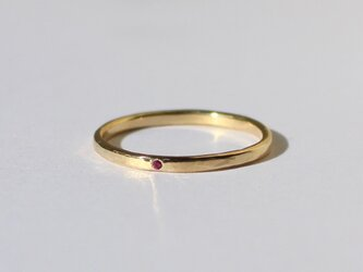 Rubeus ring / K18 Yellow gold. Rubyの画像