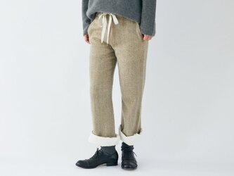 enrica herringbone pants beigeの画像