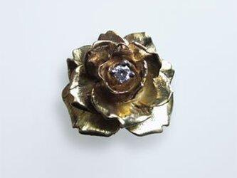 大人のためのK18大輪のバラの指輪の画像