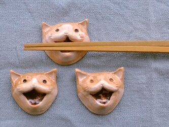 猫の箸置き三匹セットの画像