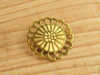 真鍮ブローチ hana sukashi B004-2の画像