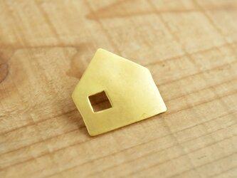 真鍮ブローチ at home B005-1の画像