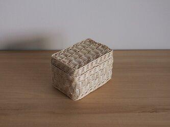 箱 1(よろけ編み/生成り)の画像