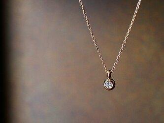 【受注生産】【特別価格&送料無料!】ダイヤモンド 一粒ネックレス【n_k14_00_0001】の画像