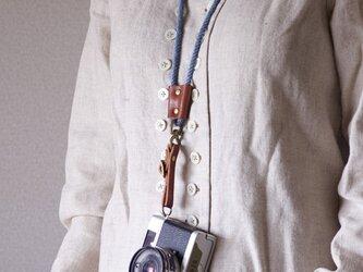 ROPE TIEカメラストラップ(インディゴ)[受注生産]の画像