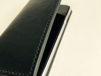 革のiphoneケース い KURO(iPhone11対応可,刻印無料)の画像