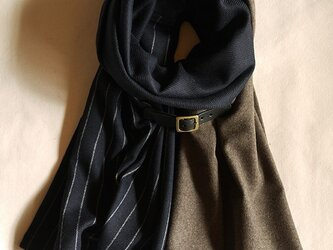 three cloth leathrbelt stole <16aw-f>の画像