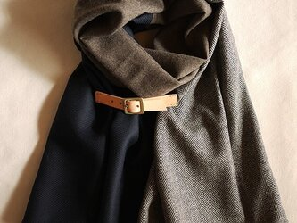 three cloth leathrbelt stole <16aw-g>の画像