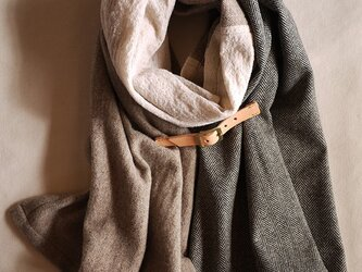 three cloth leathrbelt stole <16aw-h>の画像