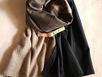 three cloth leathrbelt stole <16aw-i>の画像