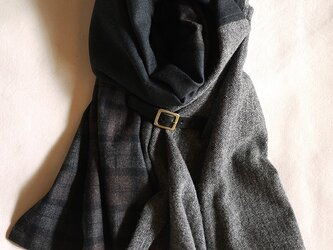 three cloth leathrbelt stole <16aw-j>の画像