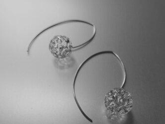 Dentelle sphere Earring M / Silver 925の画像