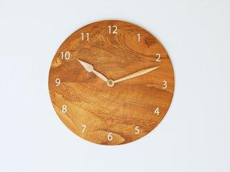 木製 掛け時計 丸 桜材12の画像