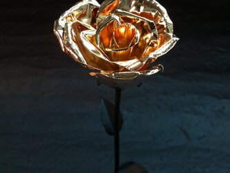 咲くー金属の花 (ピンクゴールド)の画像
