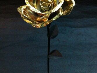 咲くー金属の花 (ゴールド)の画像